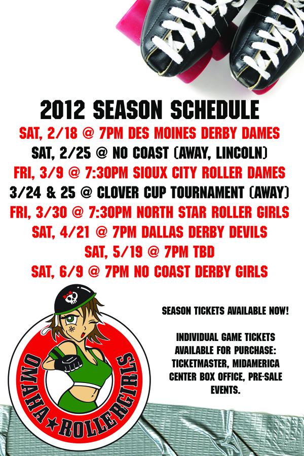 2012 Season Schedule