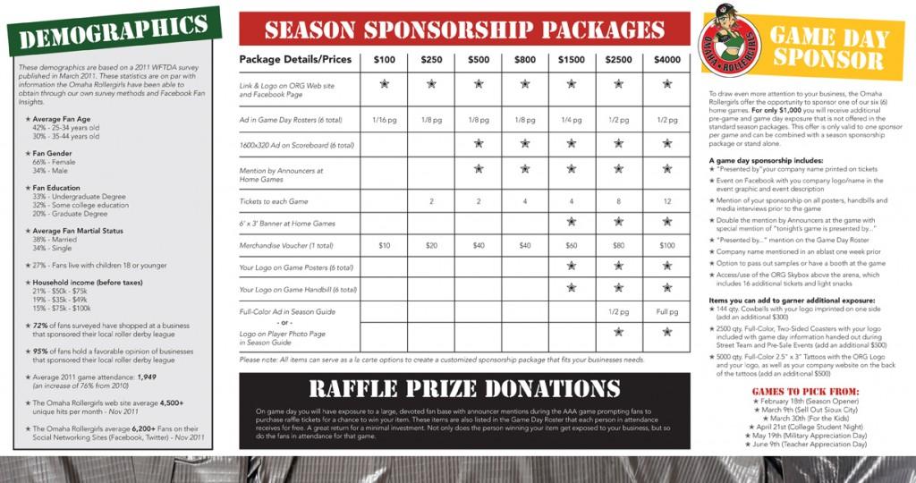 2012 Sponsorship Brochure